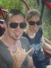 Mud monsters in the Island Buggy with Coconut Tours, Rarotonga