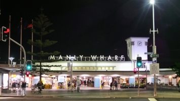 Manly Wharf all lit up